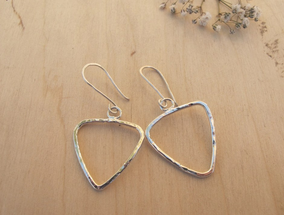 Recycled silver triangle ...
