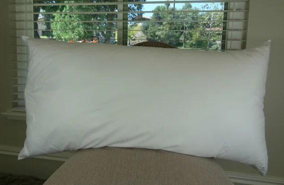 22x40 sham pillow insert made in usa hypoallergenic down alternative polyfill 22 x 40 sham pillow insert for 20 x 36 sham pillow cover