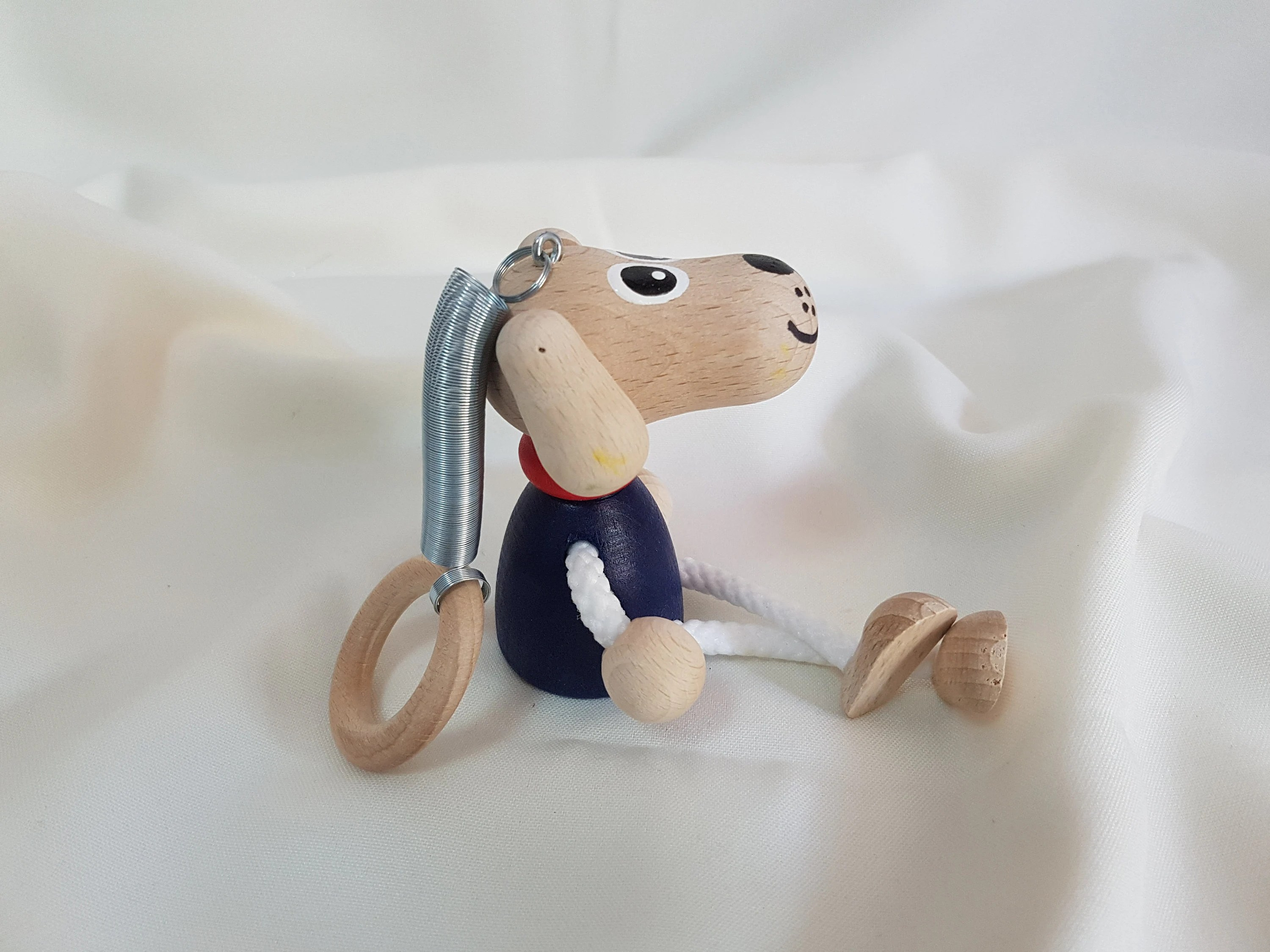 Dog Personalizable Kids Toys Wooden Dog Doll on Coil image 2