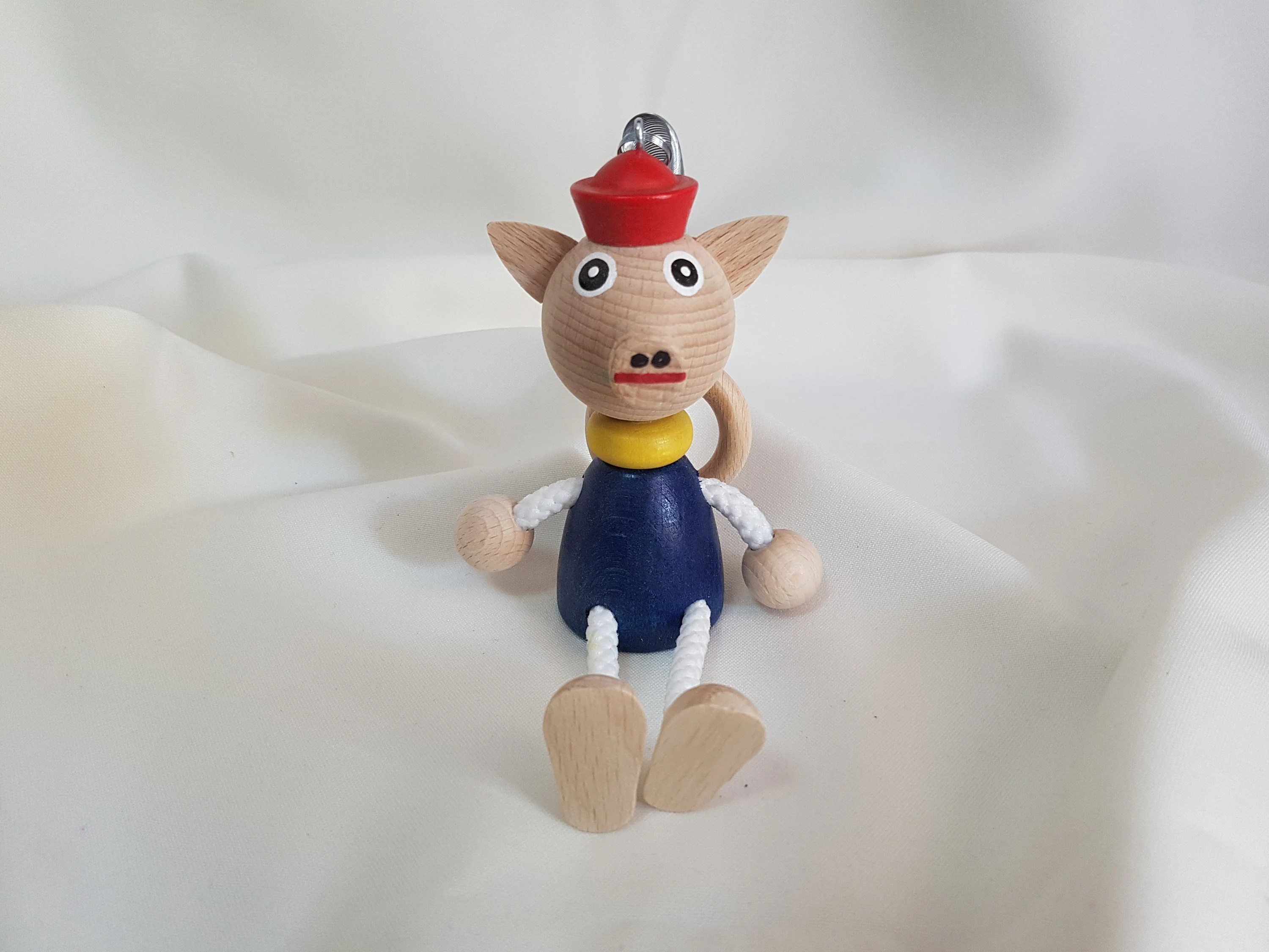 Pig Personalizable Kids Toys Wooden Pig Doll on Coil image 1