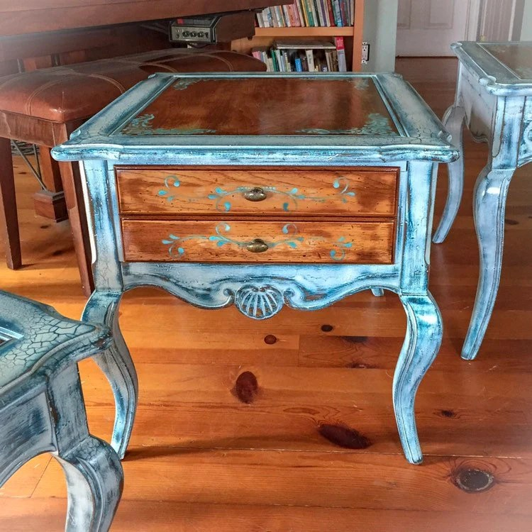 french country side table white end table shabby chic table end table white side table painted furniture small table coffee table