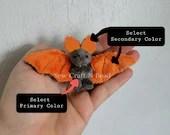 Custom Color Mini Size Bat Plush