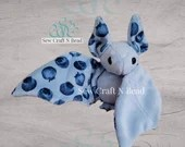 PRE-ORDER Light Blue Blueberry Bat Plush Scented or No Scent