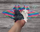 READY TO SHIP Pride Poly Flag Bat Plush