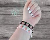 Pink Strawberry Beaded Bracelet