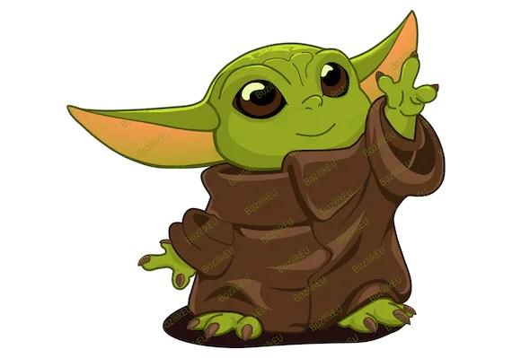 Baby Yoda SVG Printable Bundle Mandalorian Baby SVG Star ...
