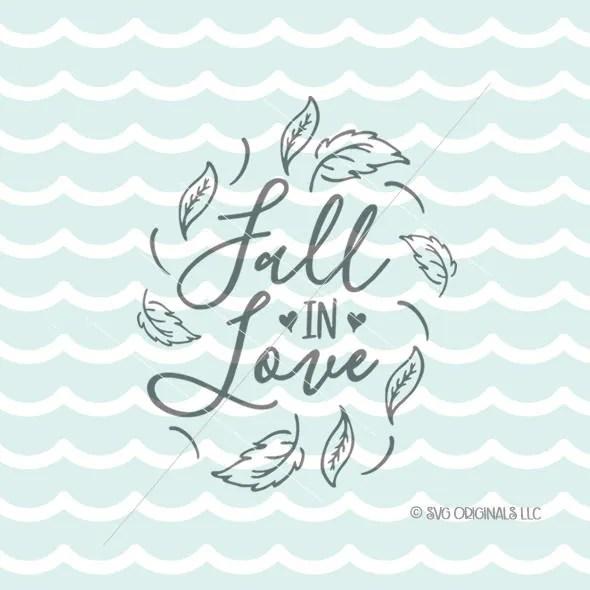 Download Fall In Love SVG Cricut Explore & more. Fall Autumn | Etsy
