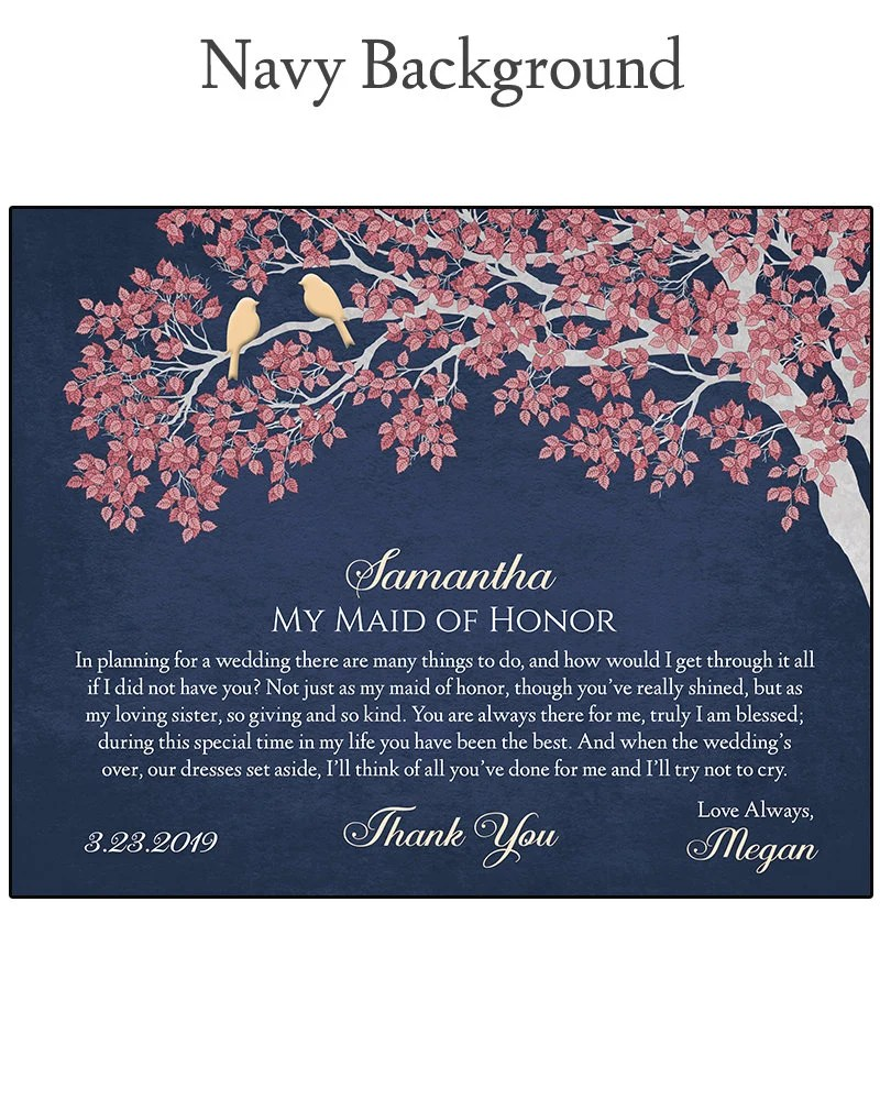 Maid of Honor Gift  Gift For Maid of Honor  Bridal Party image 7