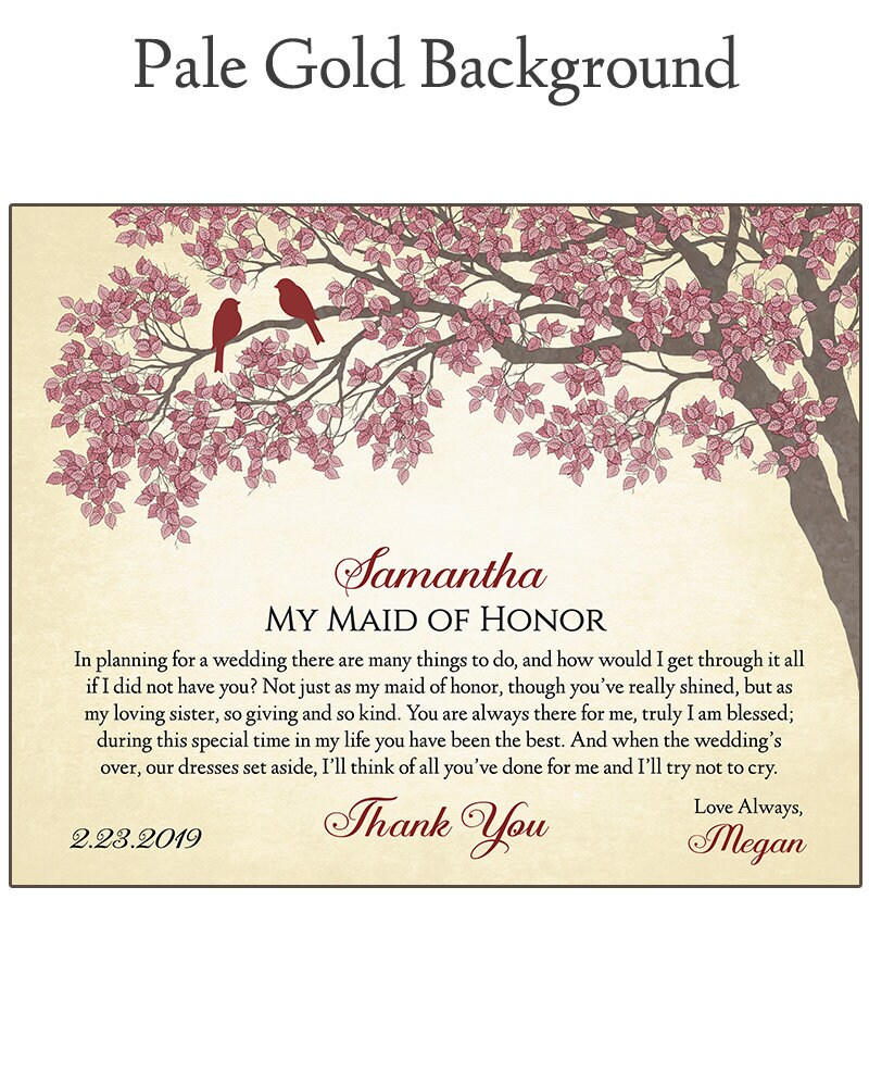 Maid of Honor Gift  Gift For Maid of Honor  Bridal Party image 6