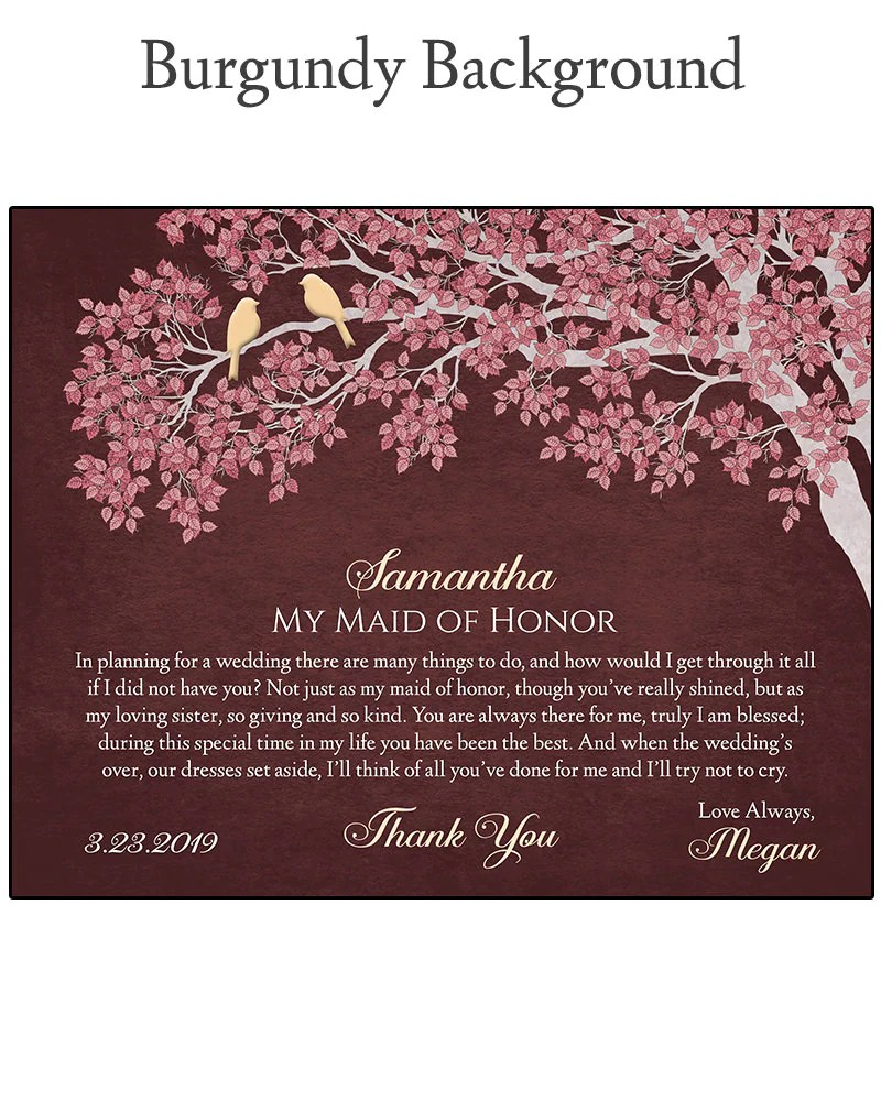 Maid of Honor Gift  Gift For Maid of Honor  Bridal Party image 8