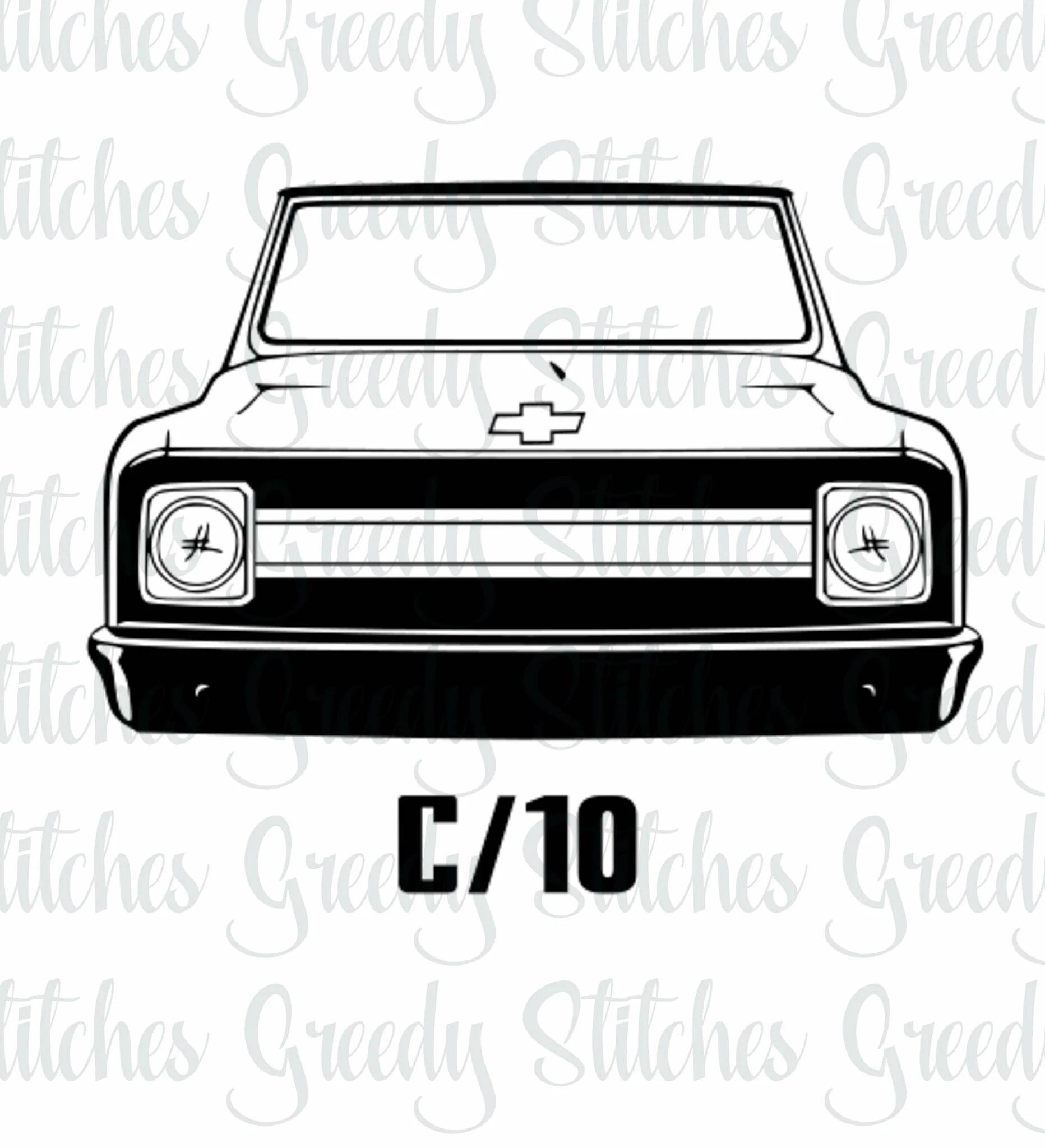 70ish Chevrolet C10 Svg Dxf Eps