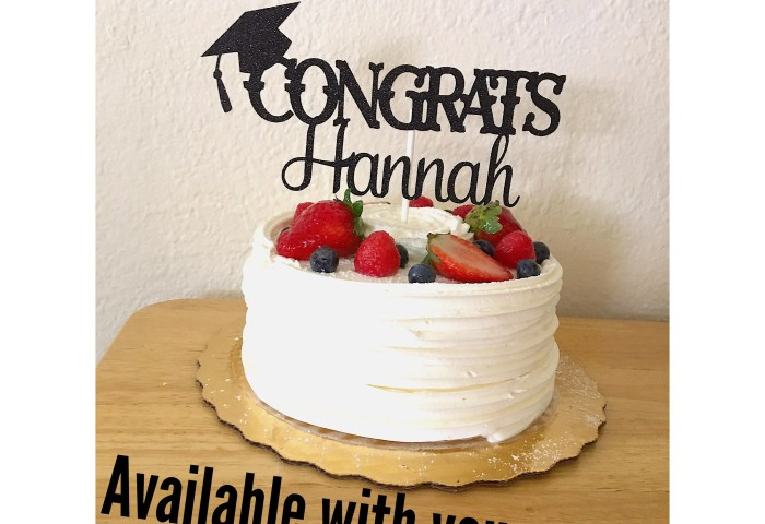 Graduation Cake Topper Class Of 2019 Personalized Cake Etsy