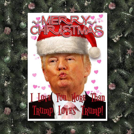 Donald Trump Funny Christmas Card Trump Christmas Card Etsy
