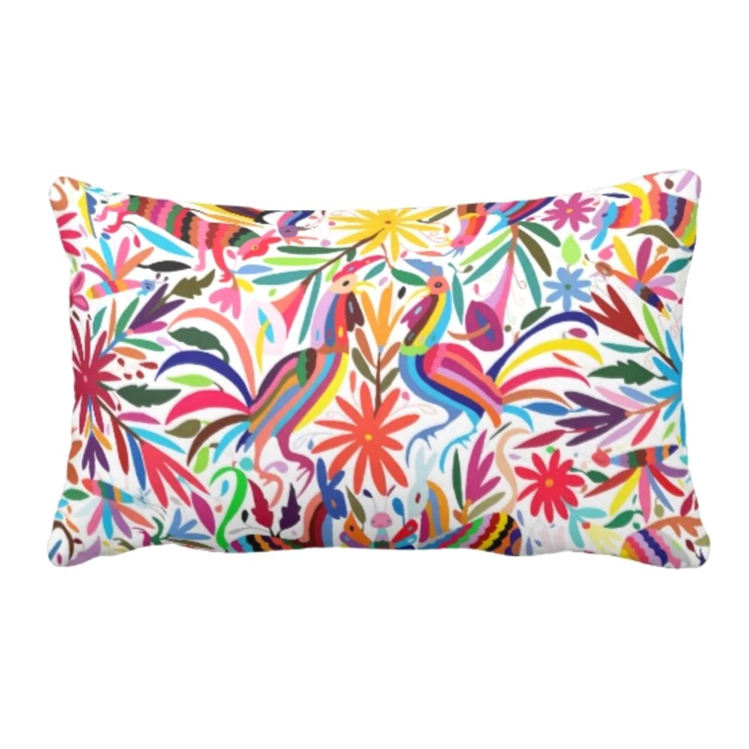 colorful otomi throw pillow or cover