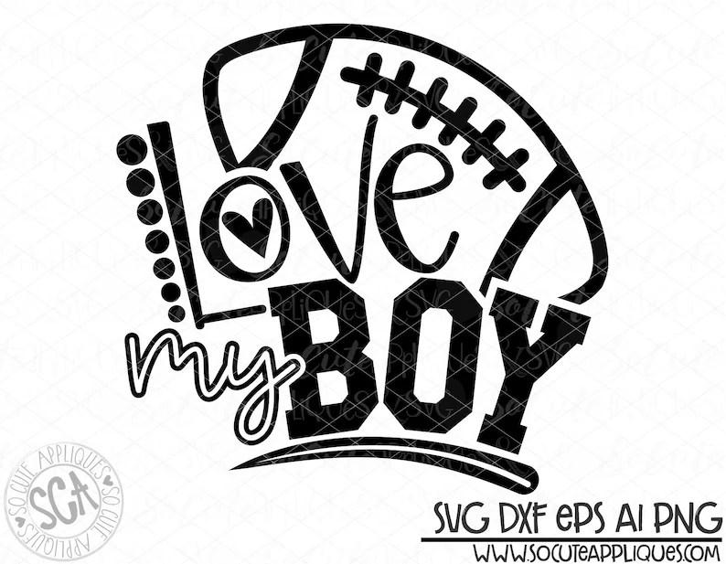 Download Football mom Love my boy svg design football mom svg | Etsy