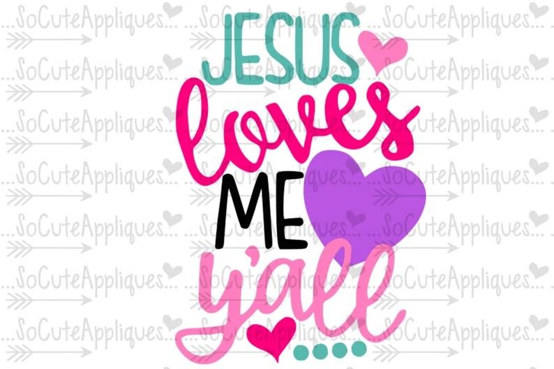 Download Easter SVG Jesus love me yall svg Easter cut file ...