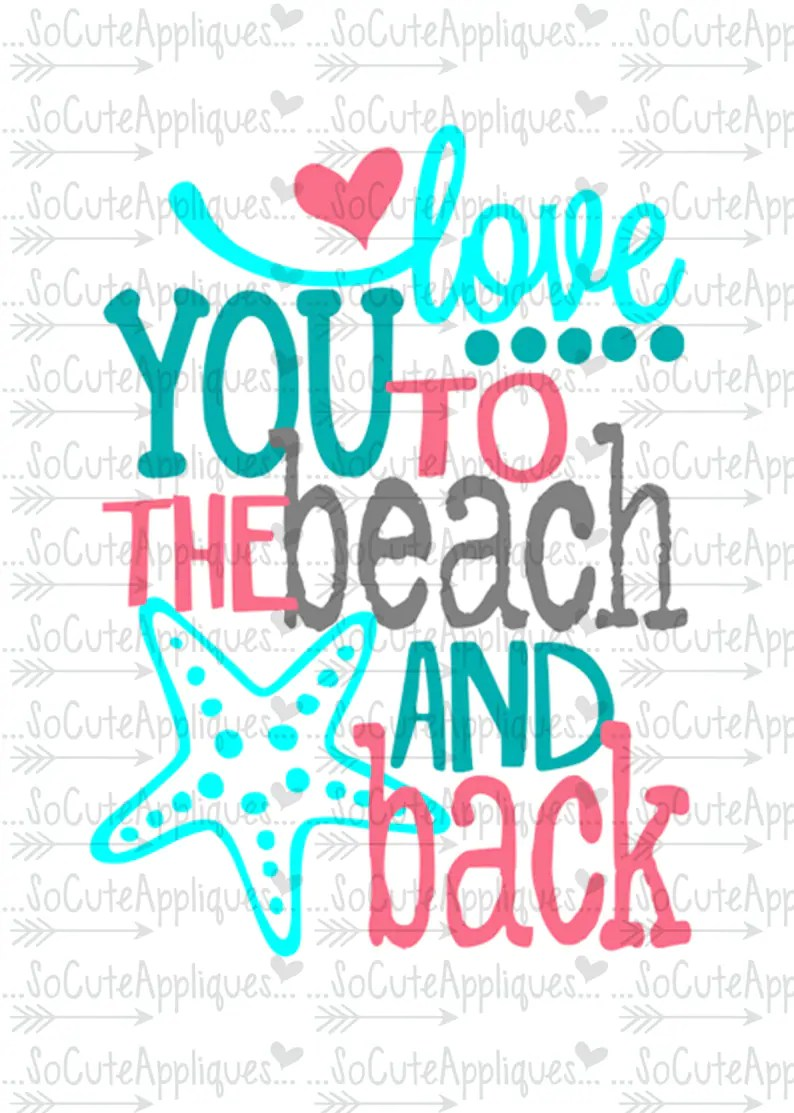Download Mermaid SVG Love you to the beach & back nautical svg   Etsy