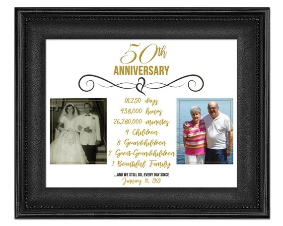50th Anniversary Photo Gift Gold Anniversary Print 50 Wedding Anniversary Gift Parents Anniversary Gift Grandparent Anniversary By Party Print Express Catch My Party