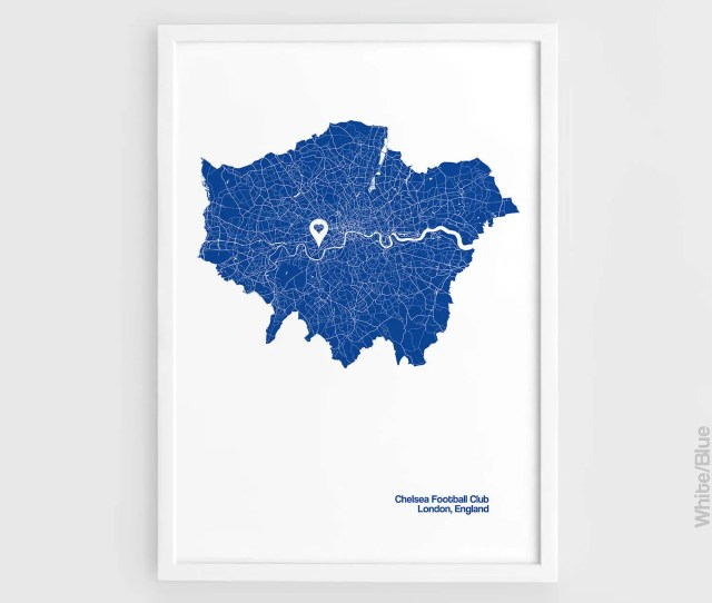 Chelsea Fc London City Map Print Stamford Bridge Stadium Football A3 Wall Art Print Poster Minimalist Poster Football Poster