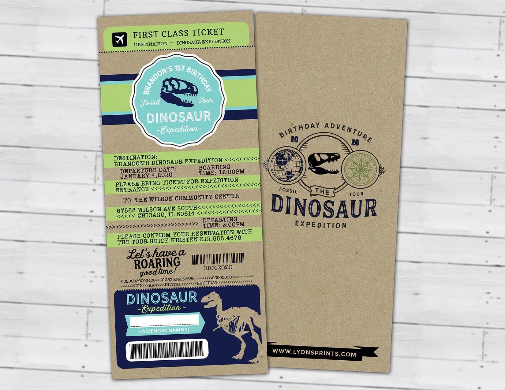 dinosaur dig party invitation dinosaur