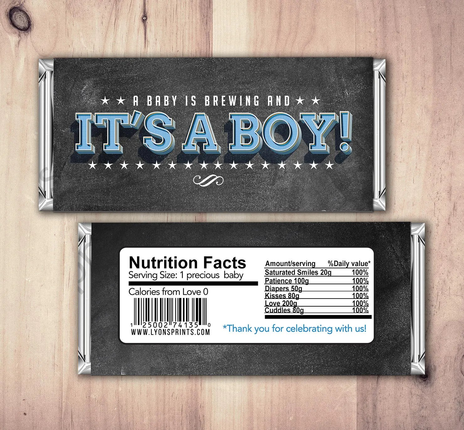 Baby Candy Bar Wrapper Printable Hershey S Bar Wrapper
