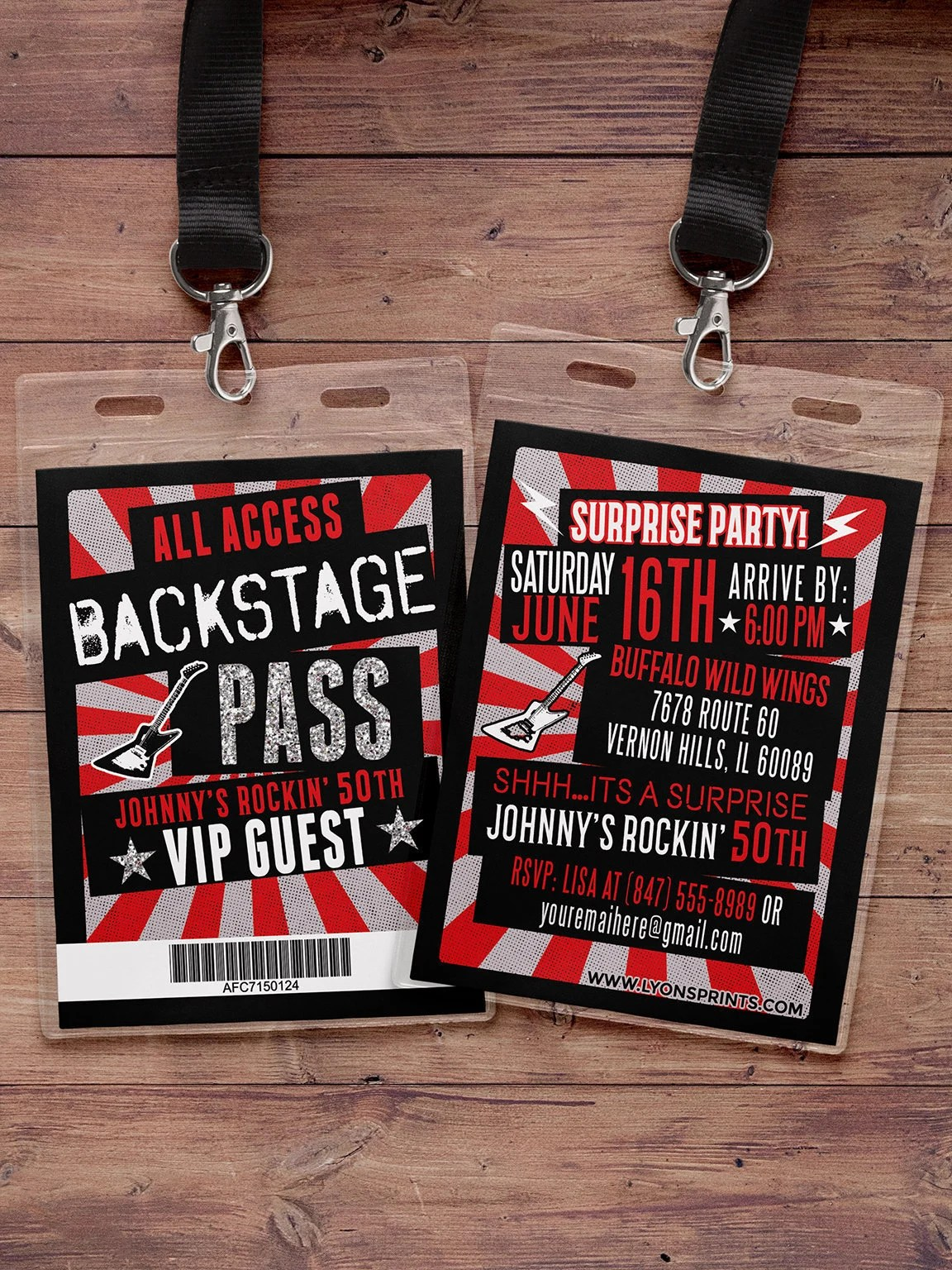 vip pass backstage pass concert ticket birthday invitation 40th 30th 21st 50th party favor lanyard rock star