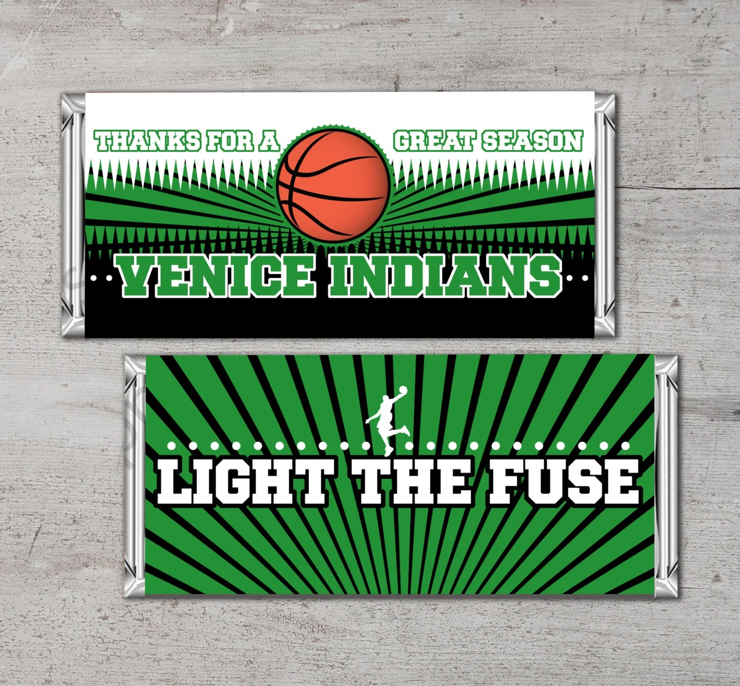 Personalized Basketball Candy Bar Wrapper Printable
