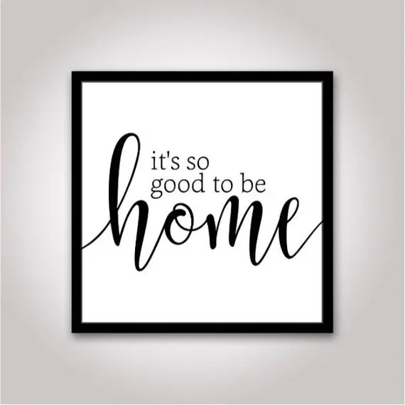 Download It's so good to be home Sign SVG File: Silhouette Cameo   Etsy