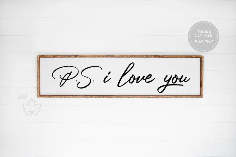 Download Ps I love You SVG PNG | Etsy