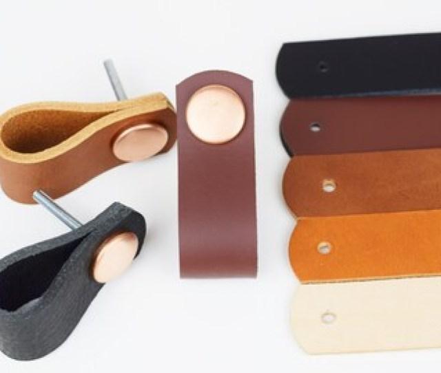 Leather Drawer Pulls Leather Pulls Leather Handles Cabinet Hardware Cabinet Handles Dresser Pulls Cabinet Door Pulls Leather Knobs