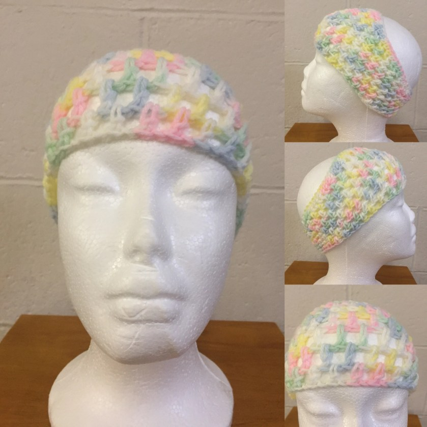 Crocheted Pink & White He...