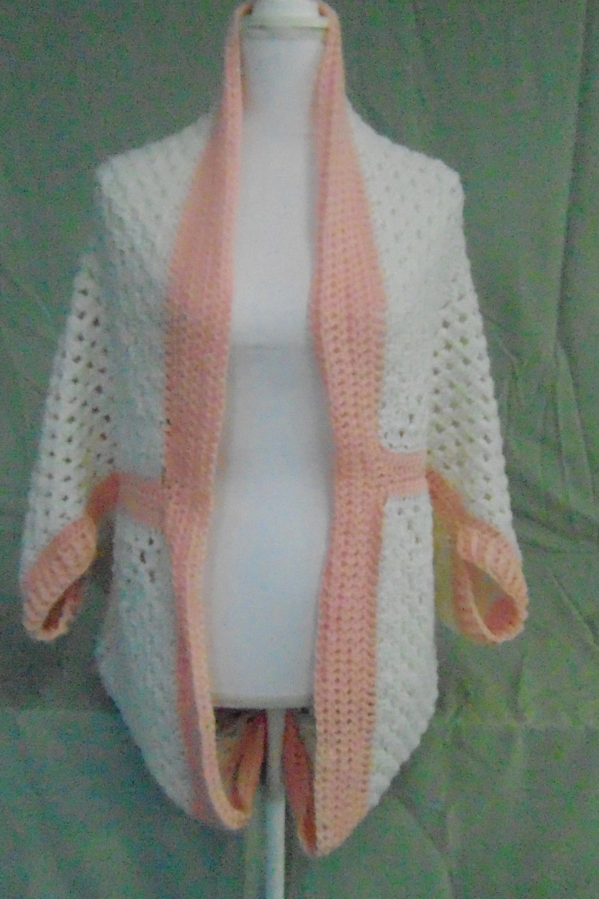 Crocheted Cocoon Sweater-...