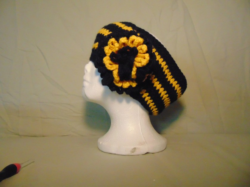 Crocheted Messy Bun Hat i...