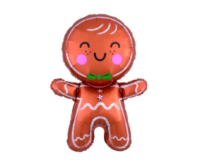 Gingerbread Man Shape Christmas Mylar Balloon