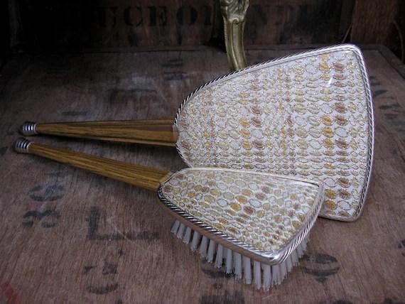 ensemble de vanite vintage vintage miroir brosse a cheveux vintage miroir a main jeu de coiffeuse