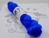 Blue Curaçao: 231 yards 75/25 Superwash Merino/Nylon fingering weight yarn in Endurance 50-Gram.