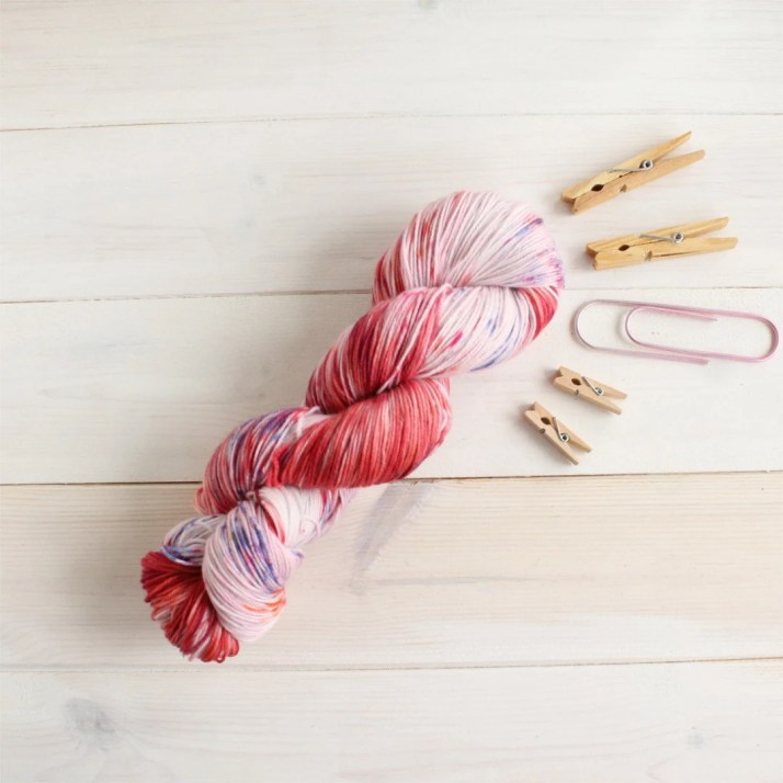 Hand dyed yarn Florals fo...