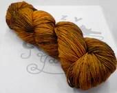 Earthdragon: 400 yards 100% Superwash Merino fingering weight yarn in Elemental yarn base.