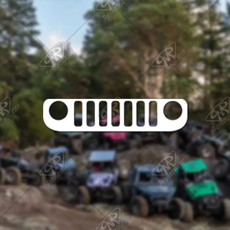 DECAL - [Jeep BU Grill] -...