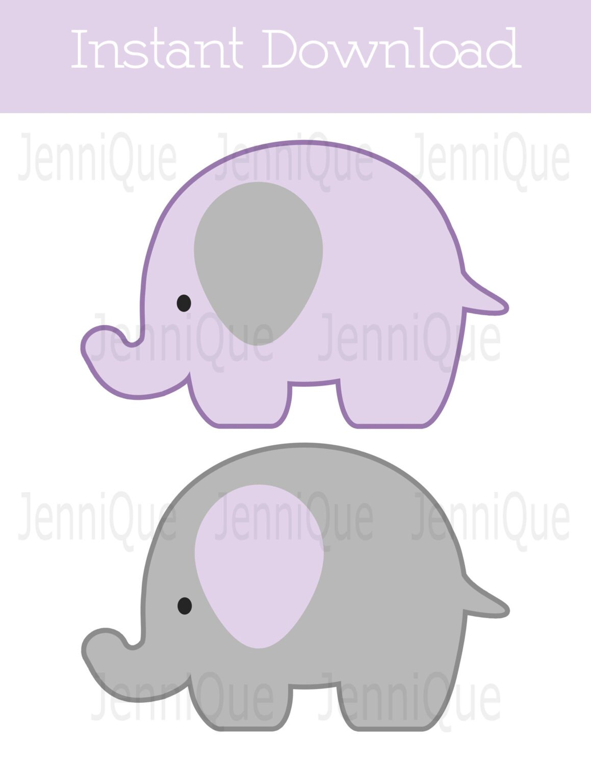 Printable Elephant Decor Elephant Baby Shower Decoration