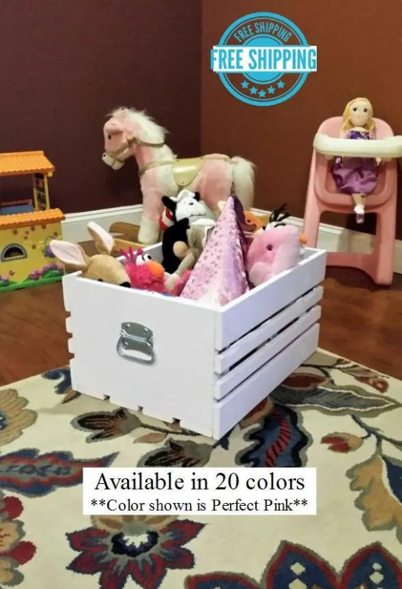 Farmhouse Style Toy Crate