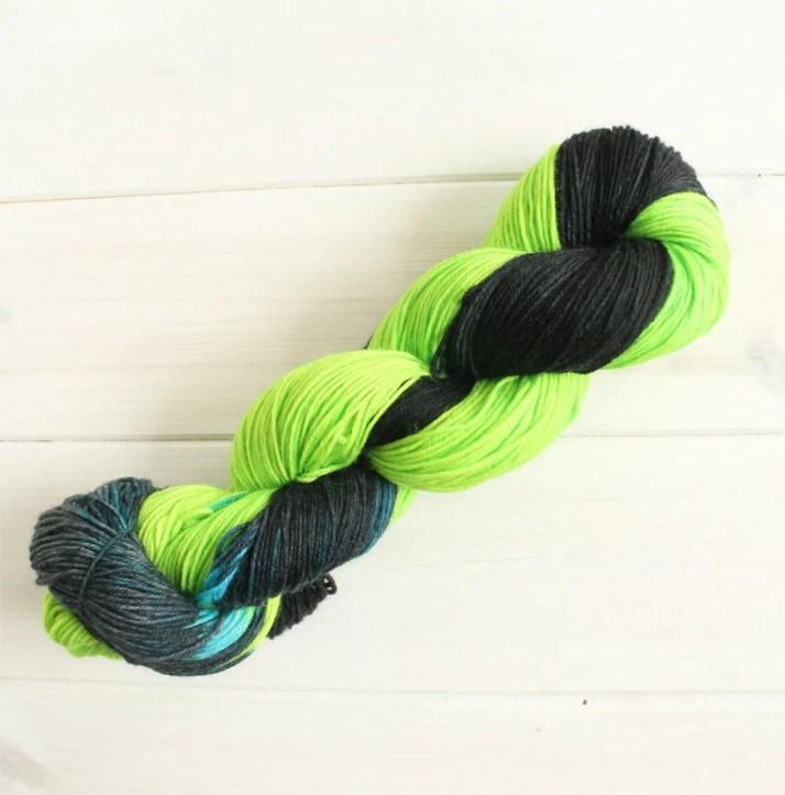 Hand dyed yarn Tyrannitar...