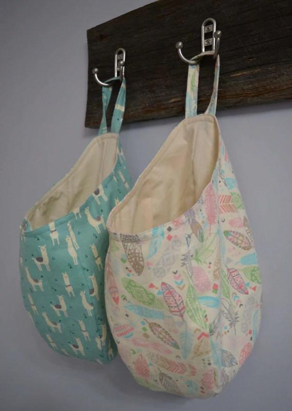 Easy Sew Hanging Storage Basket Pattern Download