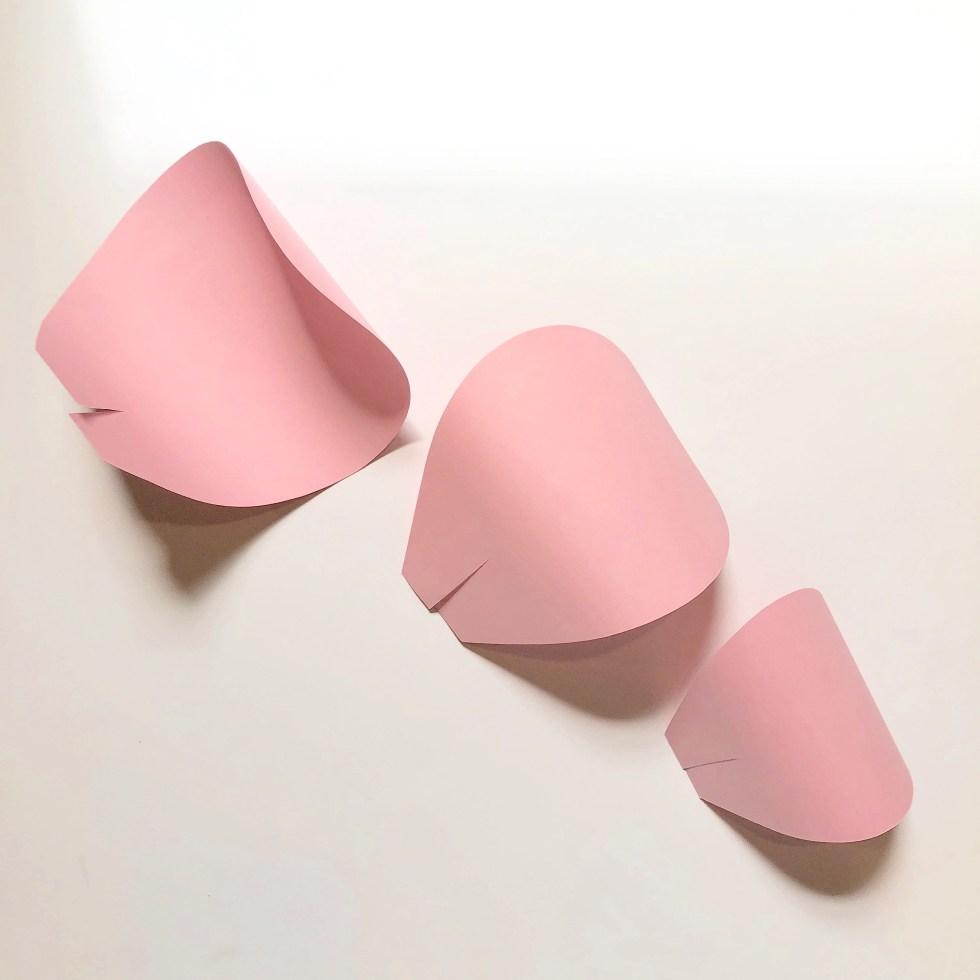 shaped paper petals