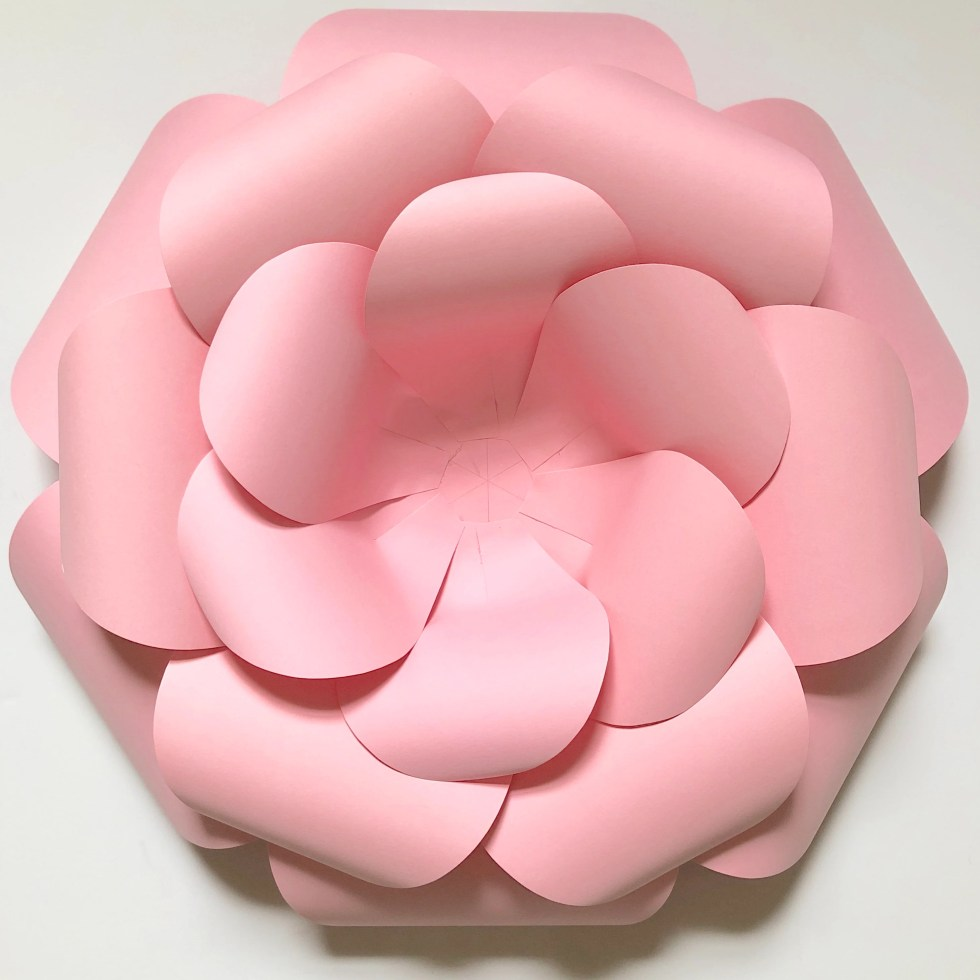 assembling paper flower