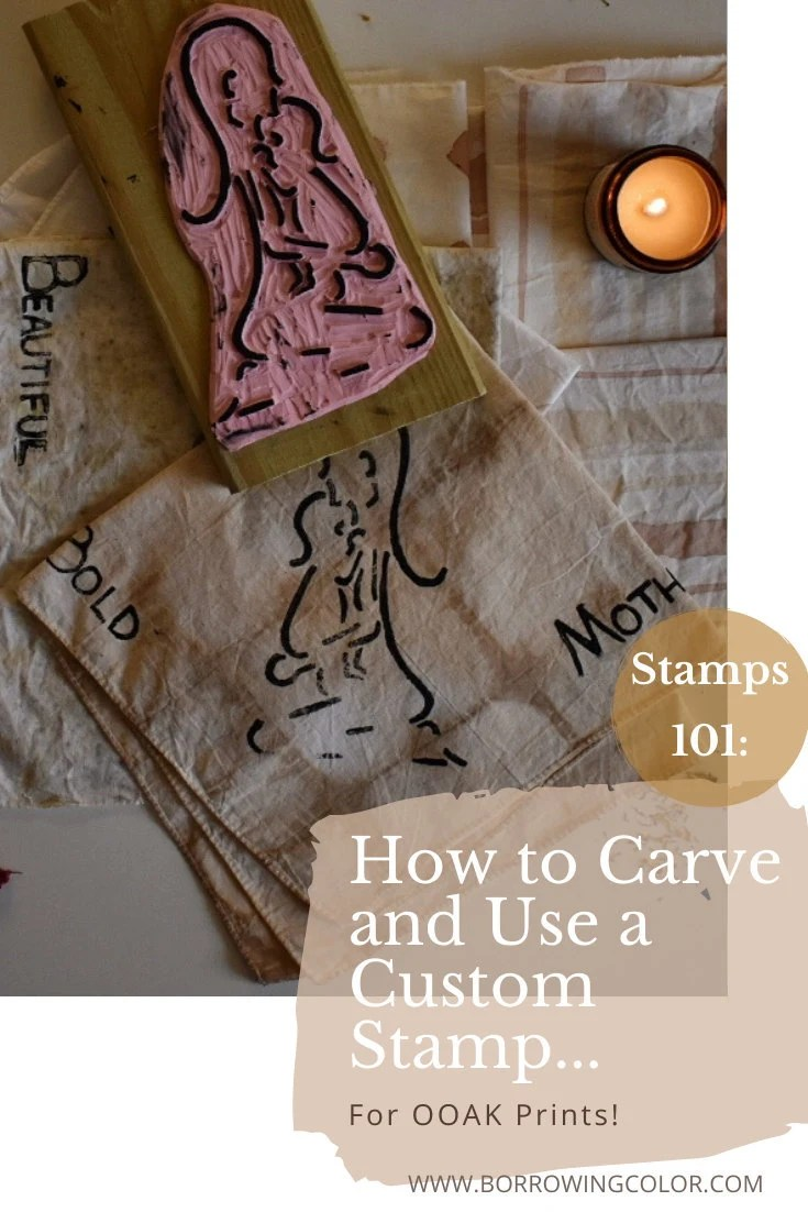 STAMPS 101: How to Carve and Use a Custom Stamp Tutorial