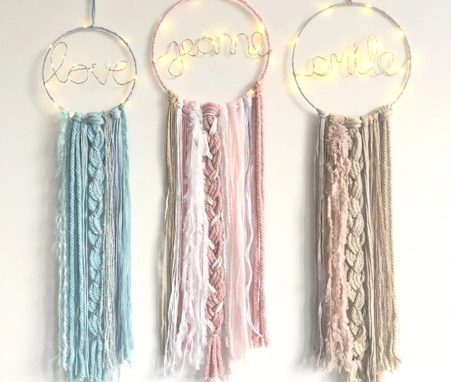 Attrape Reves Dreamcatcher Tissages Macrame By Leslovers On Etsy