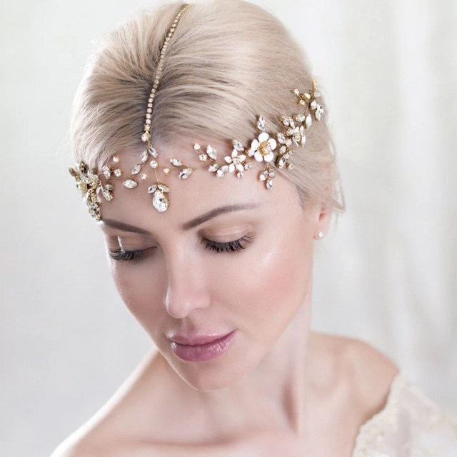 bridal headpiece jewelry gift tiara crown hair comb by topgracia