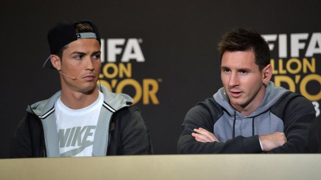 Ronaldo et Messi lors de la cérémonie du Ballon d'Or