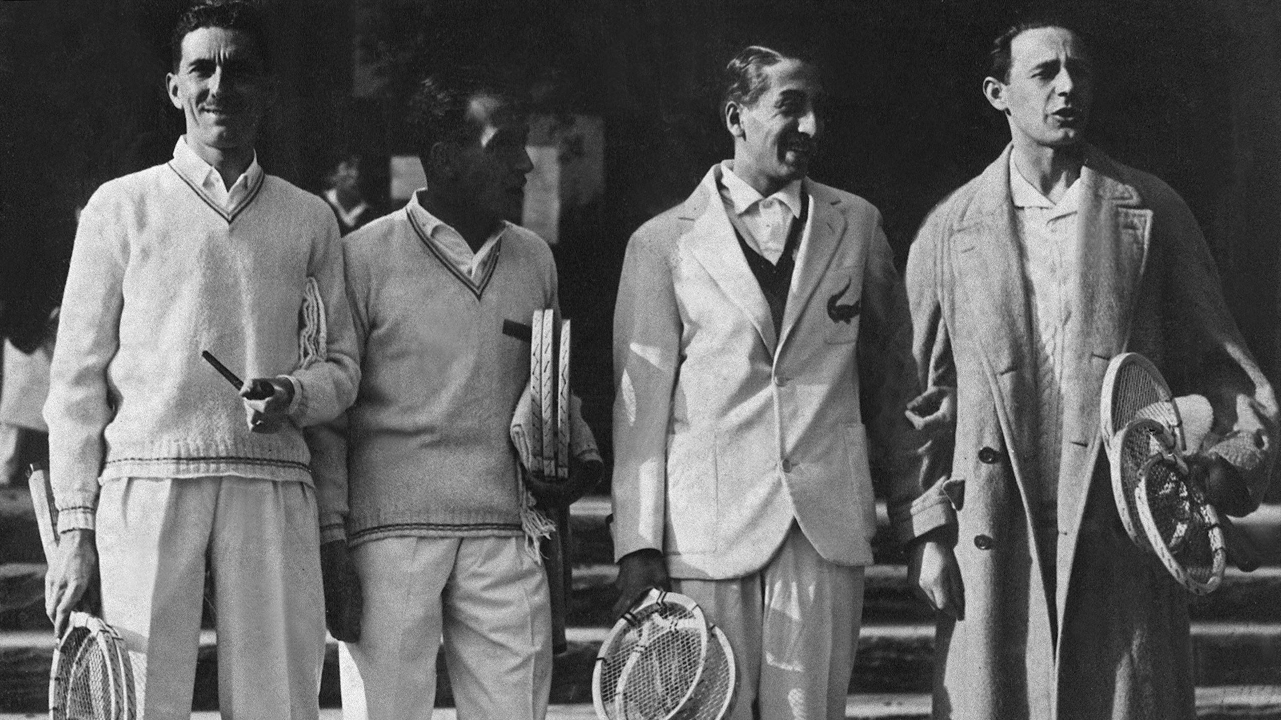 Les Mousquetaires français de Coupe Davis dans les années 30 - Brugnon, Cochet, Lacoste et Borotra